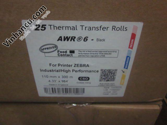 Tem nhãn mã vạch Armor AWR 6