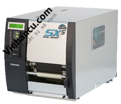 máy in mã vạch toshiba tec b-sx5t 300 dpi đầu in gần cạnh