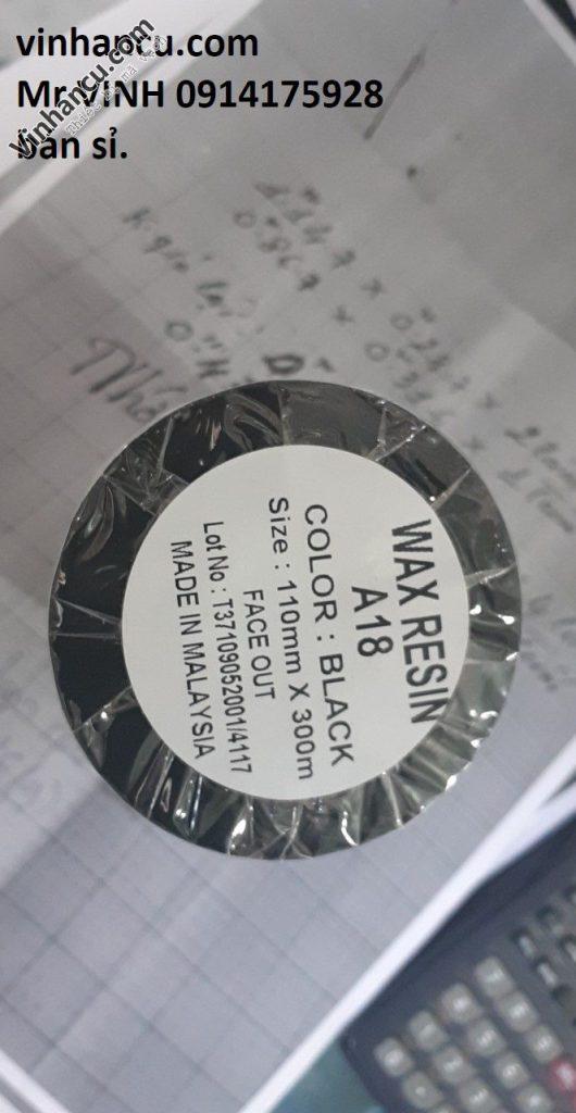 mực in mã vạch wax resin a18