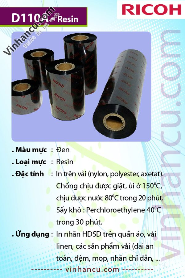 MỰC IN BARCODES RICOH