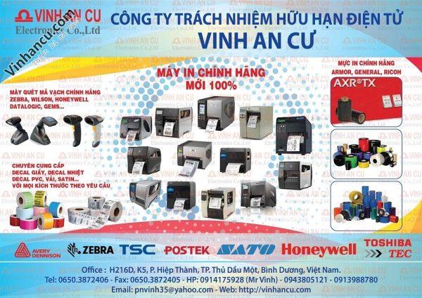 Vinh an cư thiết bị mã vạch tại Việt Nam