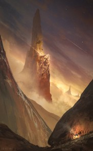 Golden Spire, Photoshop, about 5 hours.