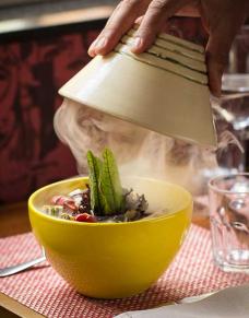 salada defumada
