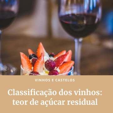 Classificação do vinho pelo conteúdo de açúcar
