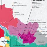 mapa colorido Libournais Franca