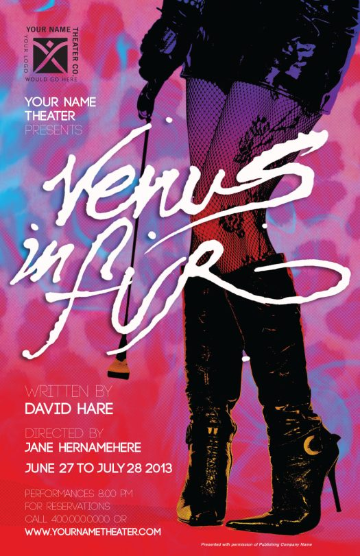 Poster for the Venus in Fur, 2012/ design JGallager/ Lettering VMarquet