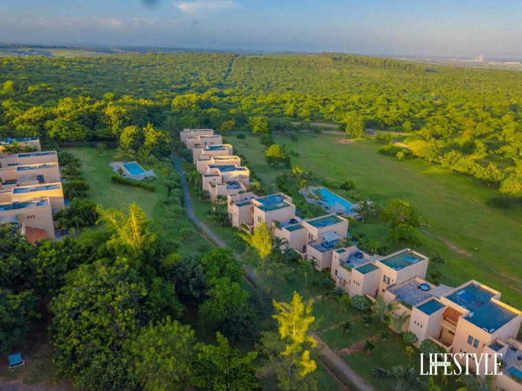 Charming luxurious escape in Kilifi: the stunning aerial views of Vipingo Ridge Golf Villas