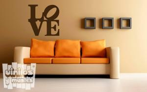 Vinilo decorativo letras love.