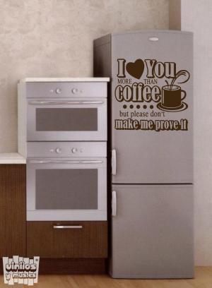Vinilo decorativo I love coffe