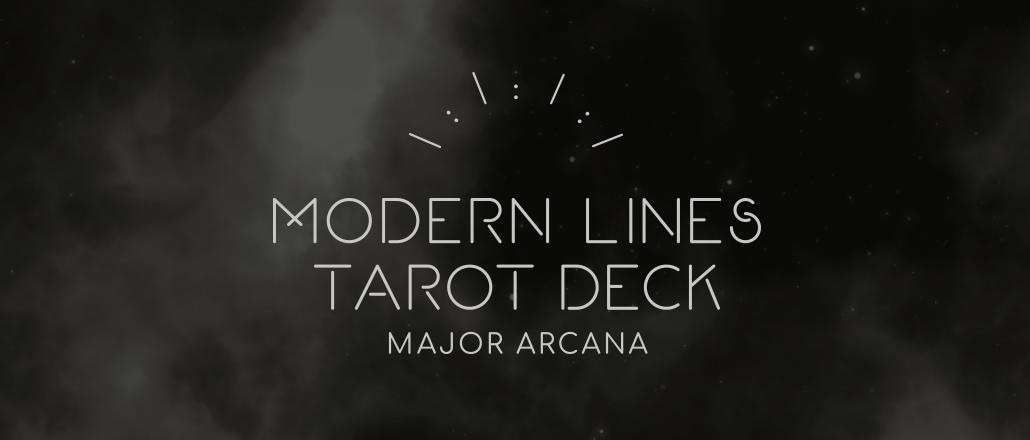 Modern Lines Tarot Deck: Major Arcana -tuotanto