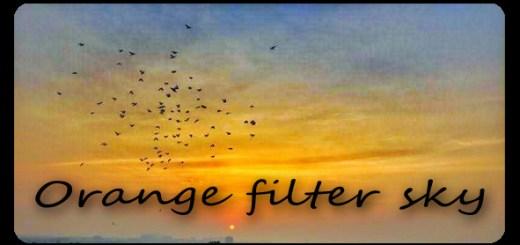 Orange filter sky