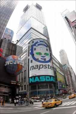 纳斯达克的Napster广告已经不复存在