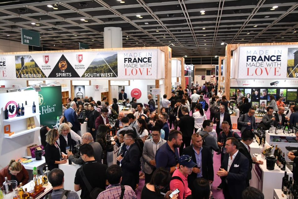 French pavilion at the HKTDC Wine & Spirits Fair
