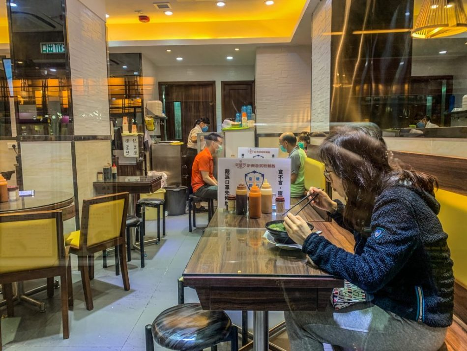 Diners eating alone in Hong Kong (pic: Natalie Wang)