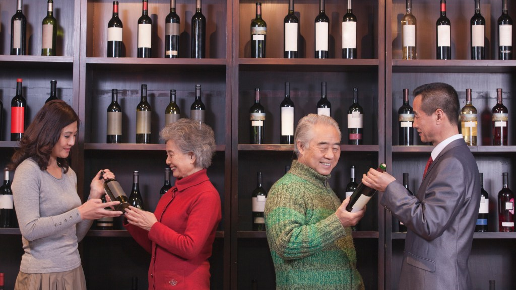 Chinese drinkers selecting wine (pic: iStock)