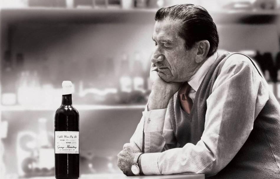 Pnfolds Grange 1951 and winemaker Max Schubert (pic: Langton's)