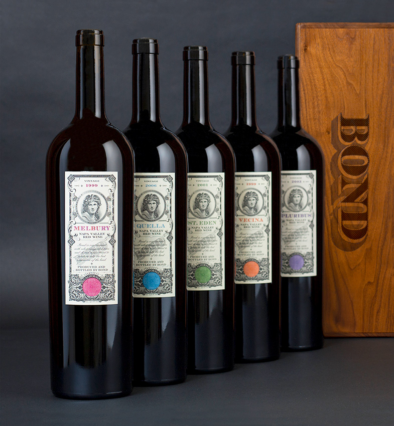 First vintages of Bond (pic supplied by Napa Valley Vintners)