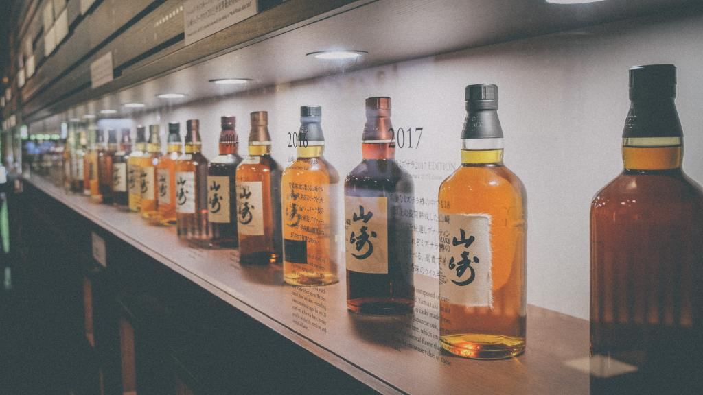 Japanese whiskies by Suntory