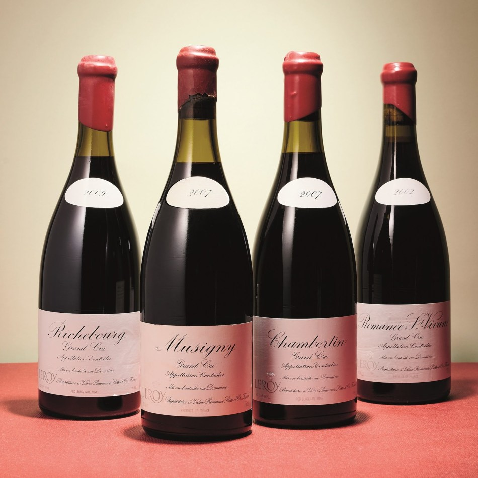Mixed Domaine Leroy lots (pic: CHRISTIE'S IMAGES LTD.)