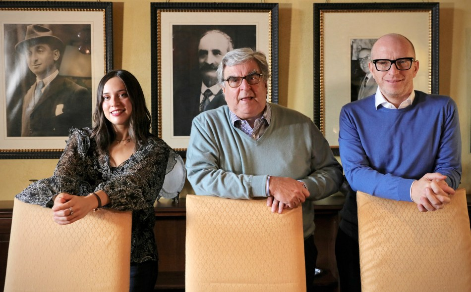 Pio Cesare middle flanked by his daughter and nephew (pic: Pio Cesare)