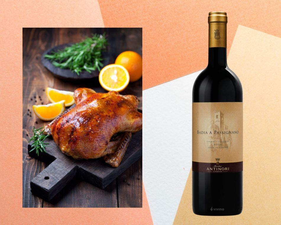 Roasted duck with Chianti Classical (pic: Vino Joy News)