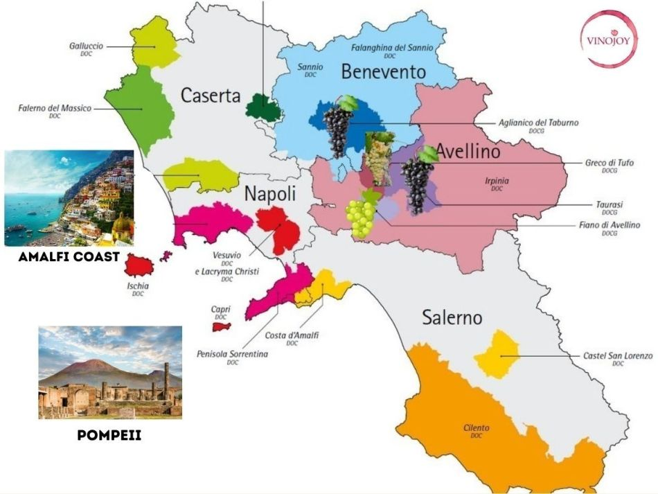 Southern Italy's Campania and Basilicata are making some of the most exciting wines in Italy right now (pic: Vino Joy News)