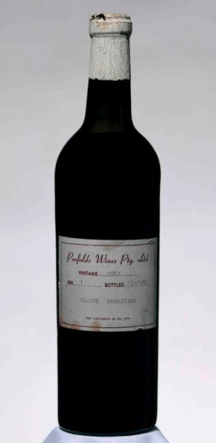 Бутылка вина Пенфолдс Грейндж 1951 года была продана на аукционе за $80 тыс.