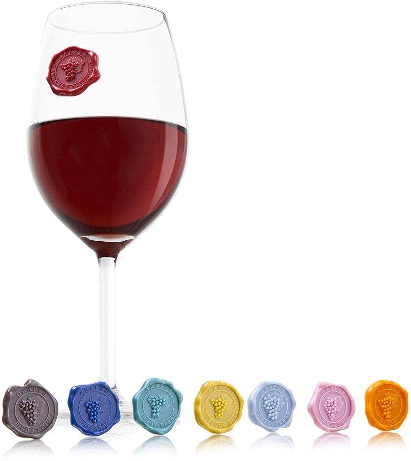 Наклейки на бокалы винолюб винные аксессуары