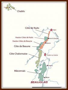 Бургундия, карта