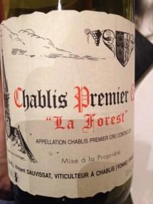 "Chablis 1er cru ""La Forest"" 2012 - Dauvissat"