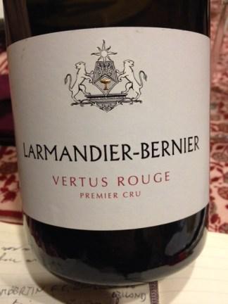 Coteaux Champenois Vertus Rouge 2012 - Larmandier-Bernier