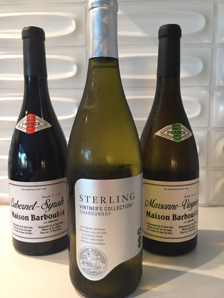 2016 Maison Barboulot Cabernet-Syrah & 2016 Sterling Chardonnay, California & 2017 Maison Barboulot Marsanne-Viognier