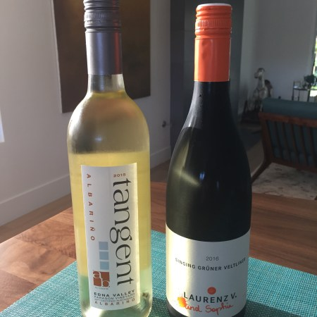2015 Tangent Paragon Vineyard, Albariño, Edna Valley & 2016 Laurenz V. Gruner Veltliner, Austria