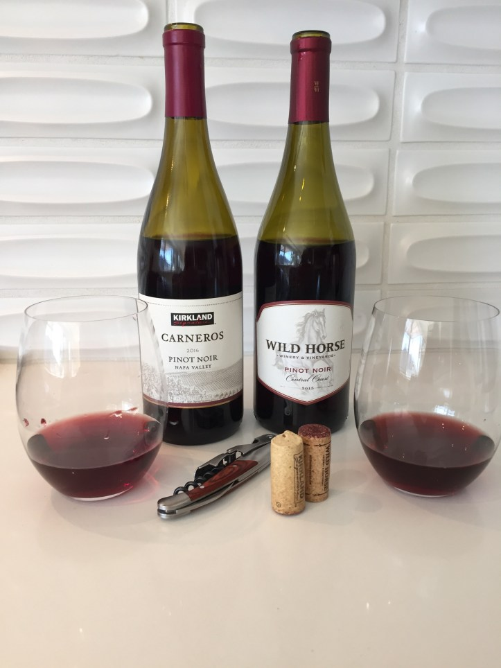 2016 Kirkland Signature Pinot Noir, Carneros, Napa Valley, California & 2015 Wild Horse Pinot Noir, Central Coast