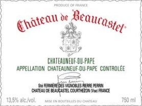 Etiqueta Chateau de beaucastel