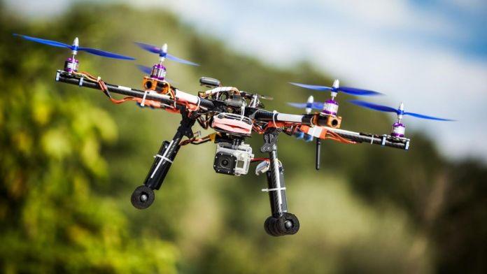 drones en el viñedo dron