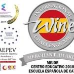 ESCUELA ESPAÑOLA DE CATA MEJOR CENTRO EDUCATIVO IWC 2018
