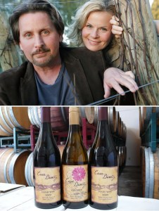Emilio & Sonja with wines