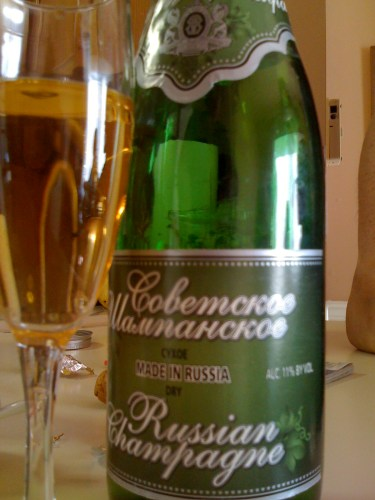 Russian Champagne... I think they were in a hurry....