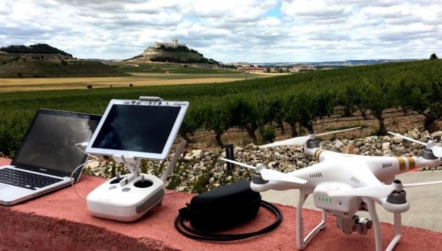 El vino del futuro controlado por drones
