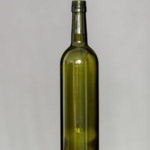 Fľaša Bordeaux 750 ml závit + uzáver – olivová