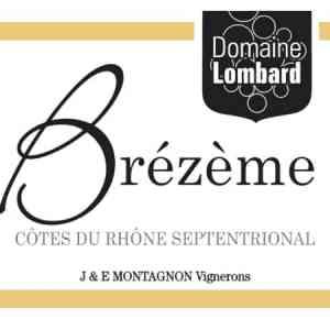 Brézème 2018 du domaine Jean-Louis Lombard