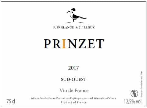 Cuvée Prinzet 2017 de Jérémie Illouz