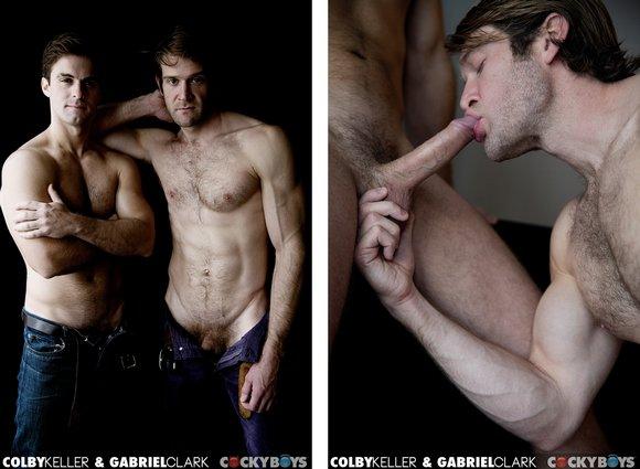 Colby Keller fuck Gabriel Clark gay hot daddy dude men porn Cocky Boys