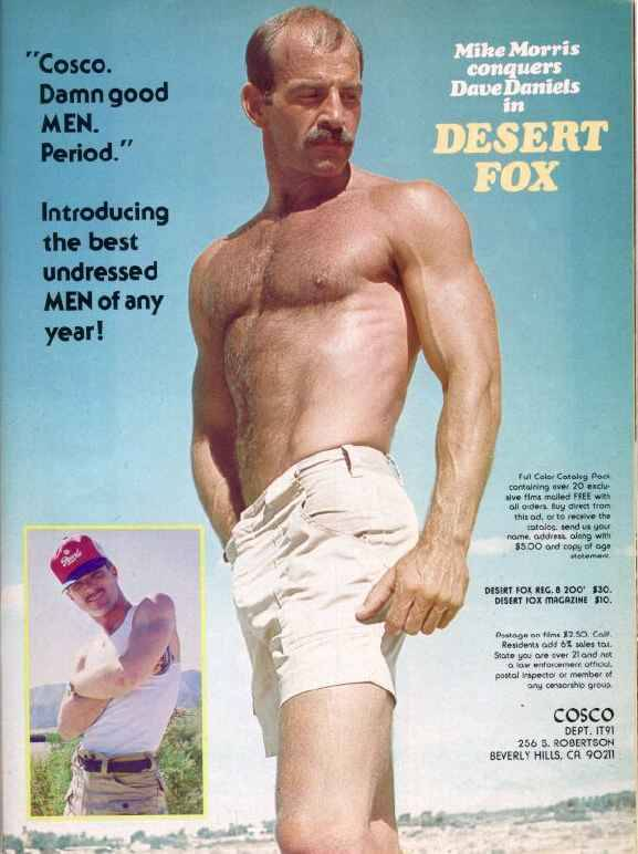 Mike Morris fuck Dave Daniels vintage gay hot daddy dude men porn Desert Fox