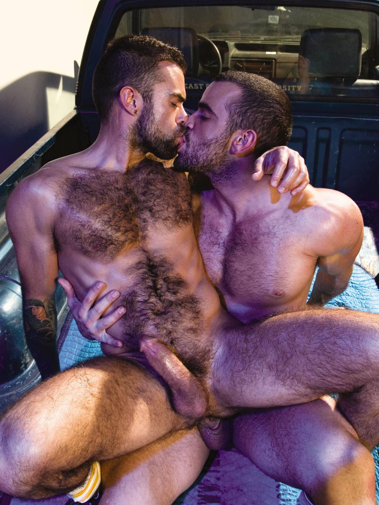 Damien Crosse fuck Steve Cruz gay hot daddy dude men porn Hotter Than Hell