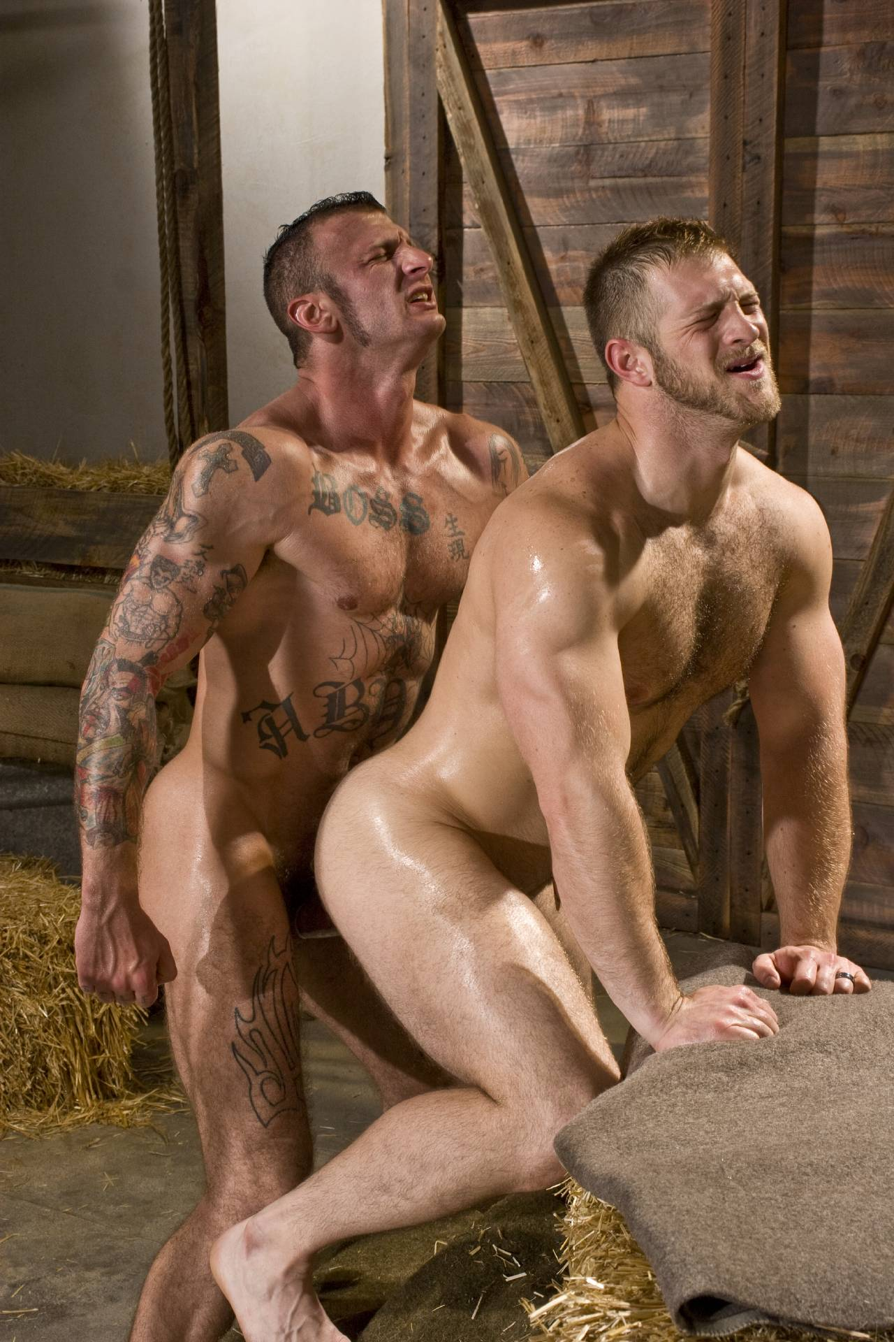 Ricky Sinz fuck Paul Wagner Roll in the Hay gay hot daddy dude men porn