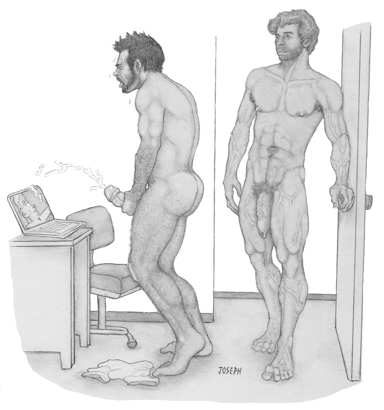 gay hot daddy dude men porn erotic art