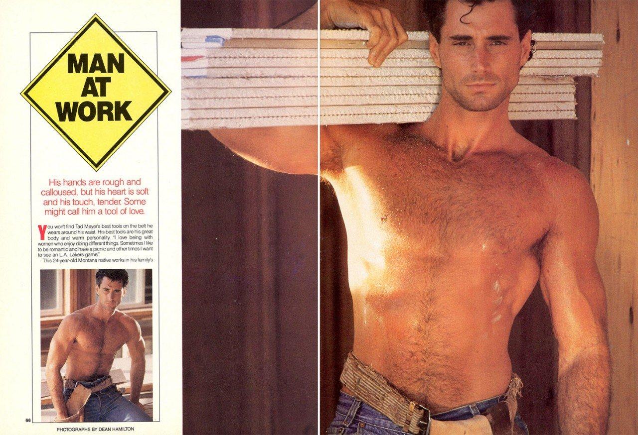 Tad Meyer vintage gay hot daddy dude men porn work sweat tradie Playgirl