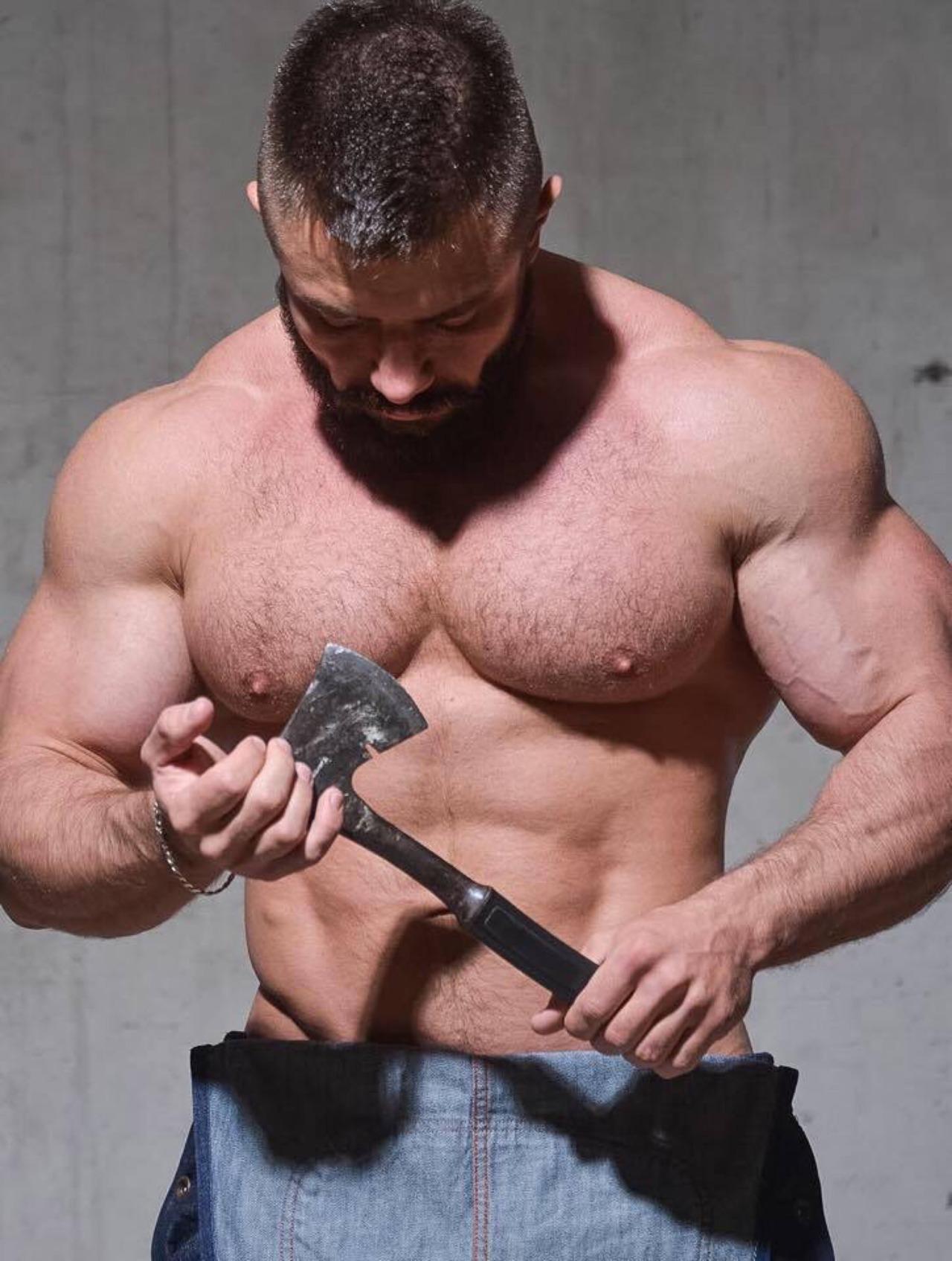 Leo Bartenev gay hot daddy dude men ripped